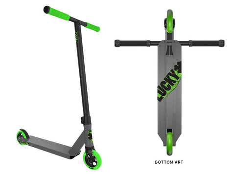 Lucky 2017 Crew Pro Scooter gunmetal/green