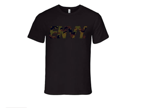 Envy Tshirt BLACK with CAMO PRINT