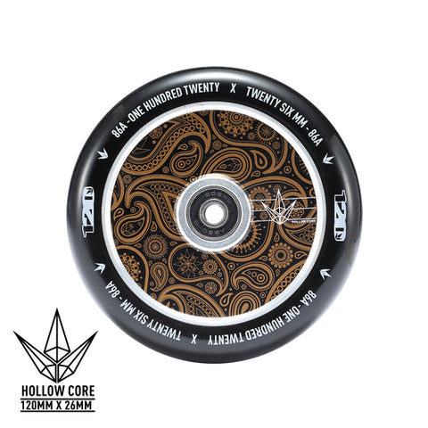Envy 120mm Wheels Hollow Core Gold Bandana
