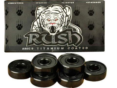 Rush Abec 9 Titanium Coated Bearings 4pk