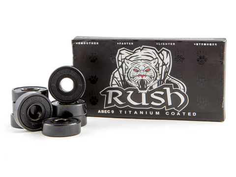 Rush Abec 9 Titanium Coated Bearings 4pk White Tiger