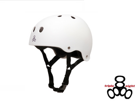 Triple Eight Brainsaver Rubber Helmet with Sweatsaver Liner
