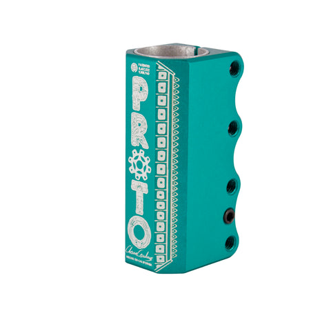 proto relic scs compression clamp teal chema cardenas side view