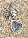 Personalized Missionary Momma Heart Locket Necklace