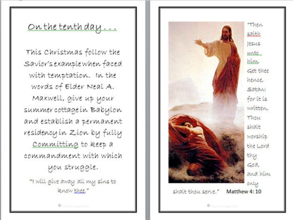 12 Days to a Christ-Centered Christmas Activity Cards - Digital Download