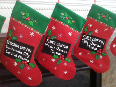 Name Tag Christmas Stocking - Customized