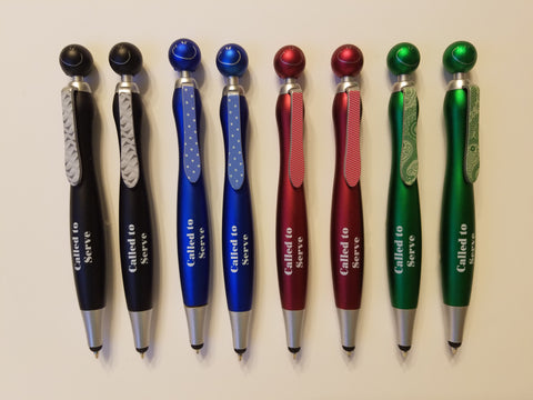 """Called to Serve"" Smiley Stylus Pens"