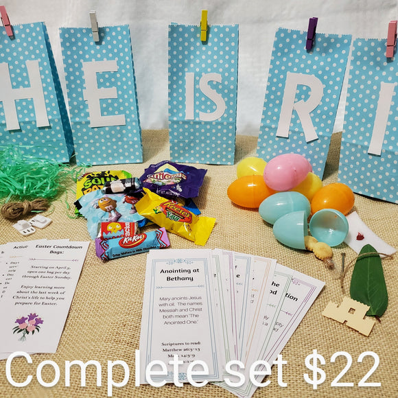 Easter Countdown Bags