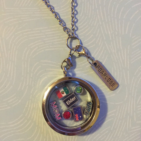 Large Missionary Momma Round Floating Locket