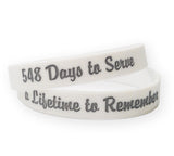 Days to Serve Silicone Bracelet 548 or 730 (Dozen)