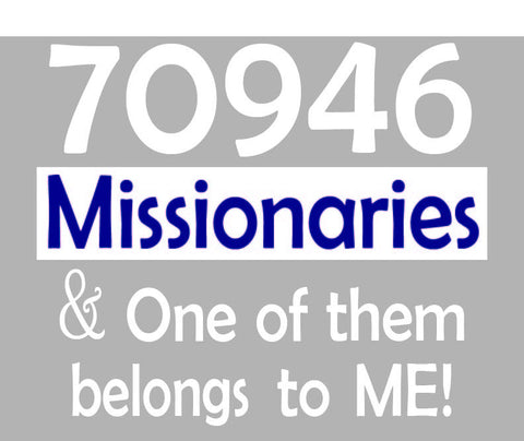 70946 Missionaries  - Long Sleeve Shirt (Men's Sizes)