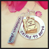 Called to Serve Book of Mormon Custom Necklace