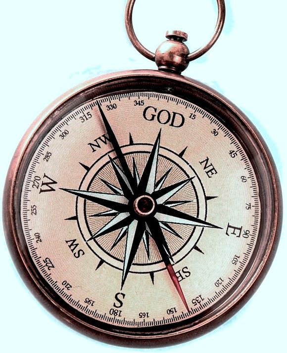 God is My Guide Compass