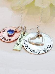 Missionary Mom Necklace - Personalized