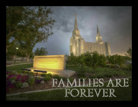 Brigham City Temple - Families are Forever - Canvas Print