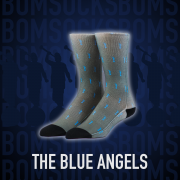BOM Socks - The Blue Angels (Gray)