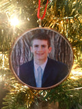 Wood Slice Photo Ornament, Christmas