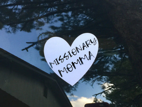 Heart Car Decal, Missionary Momma
