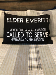 Missionary Name Tag Pillow Case
