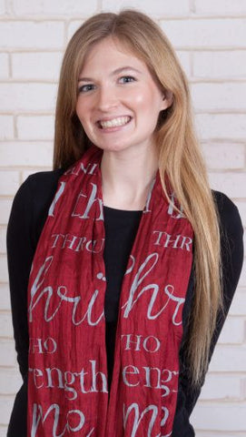 Silk Blend Scarf - Christ Strengthens