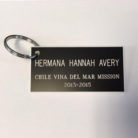 Missionary Name Tag Keychain