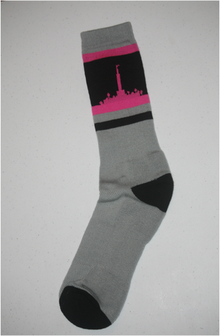 Los Angeles Temple Socks - Pink & Gray