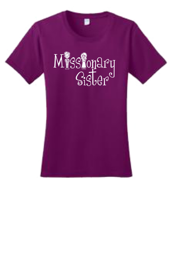 Missionary Sister Crew neck T-Shirt w/White Logo