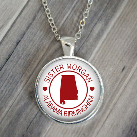 Missionary Silhouette Necklace or Keychain