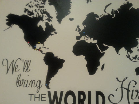 "World Map - 12""x12"" - Vinyl Only - We'll Bring the World His Truth"