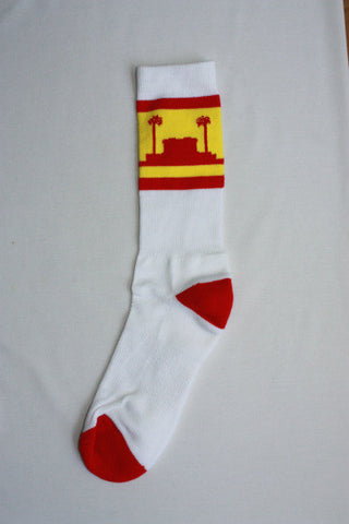 Mesa, AZ Temple Socks - White