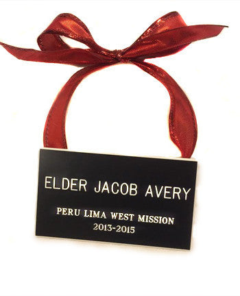 Missionary Name Tag Ornament - Engraved