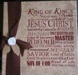 Names of Christ - Vinyl Lettering Only
