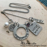 Missionary Mom Necklace ~ Hand Stamped Necklace