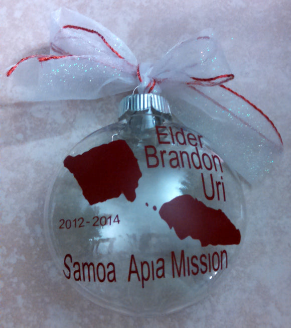 Missionary Ornament - Customized