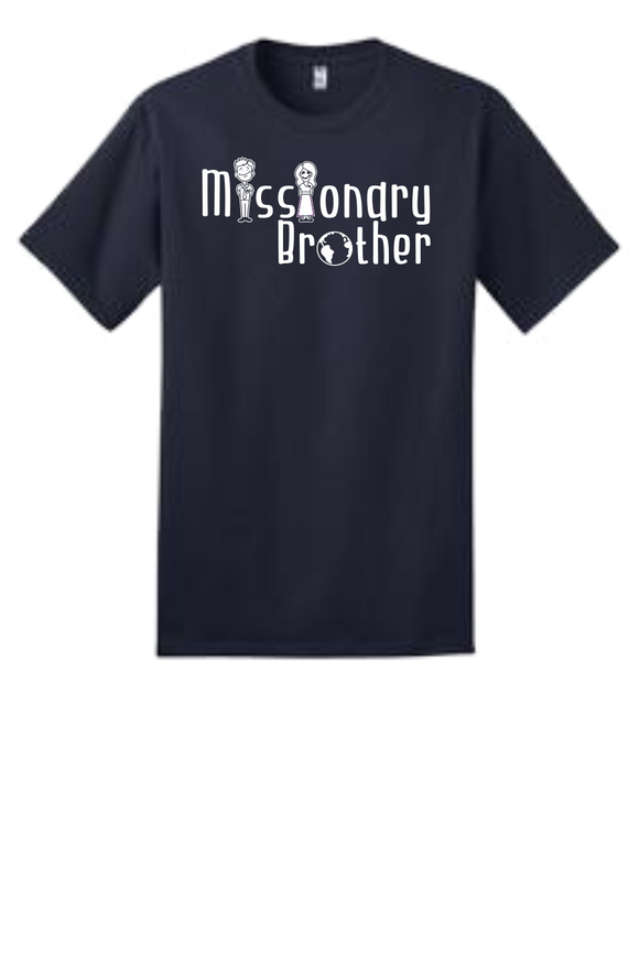 Youth Size T-Shirts w/Missionary Brother Logo in White