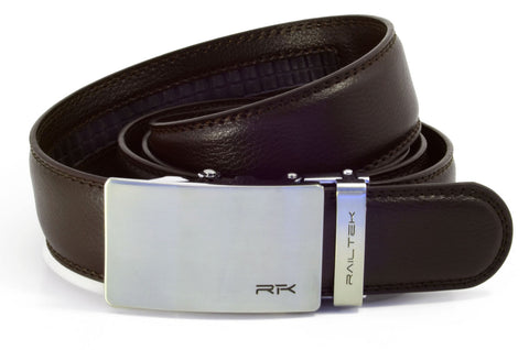 No Holes Belt from Railtek - Brushed Steel
