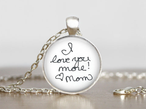 Custom Personalized Handwriting or Art Pendant Jewelry by Simply Kiki's