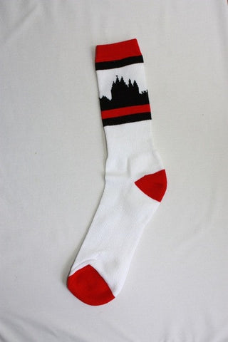 Salt Lake City Temple Socks - White