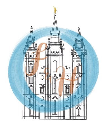 Salt Lake City Utah Temple Print