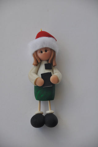 Santa Hat Sister Missionary Ornament