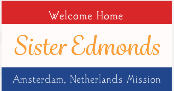 Missionary Welcome Home Banner, Digital File, 2' x 4'