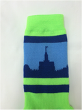 Seattle Temple Socks - Neon Green