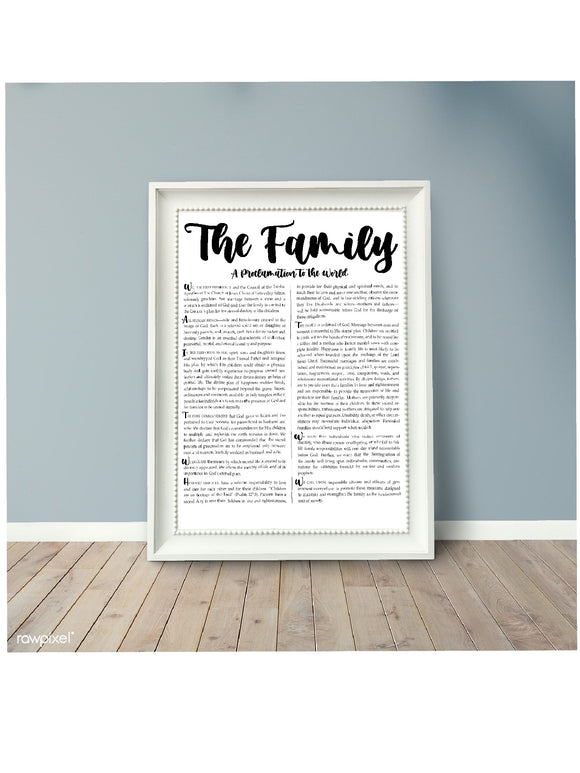 The Family, A Proclamation to the World, Printable