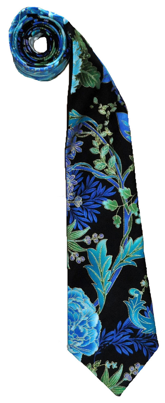 Neck Tie - Men's & Boy's Necktie - Flower Power Two