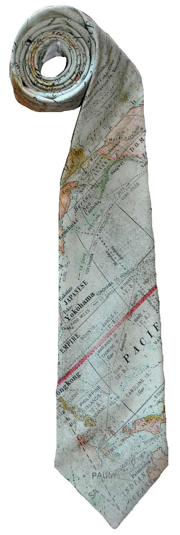 Map Tie - Handmade Men's Necktie