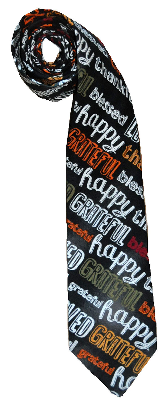 Happy Words Tie - Handmade Men's Necktie
