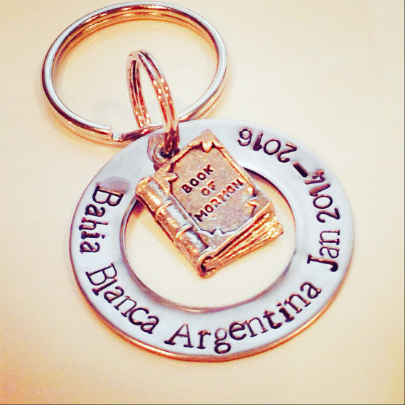 Book of Mormon Customizable Key Chain
