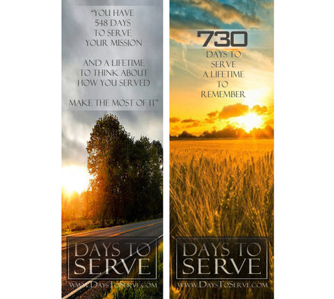 Days to Serve Bookmark