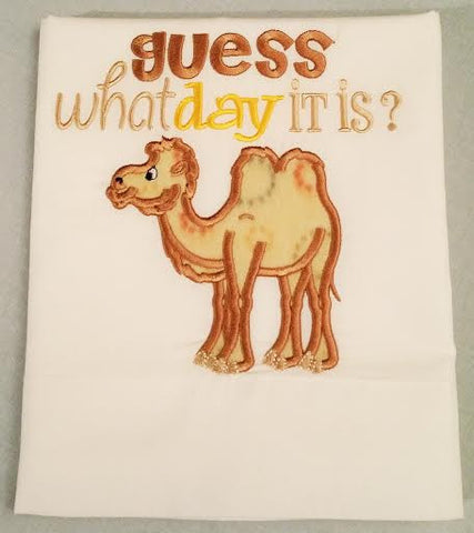 Hump Day Embroidered Pillowcase