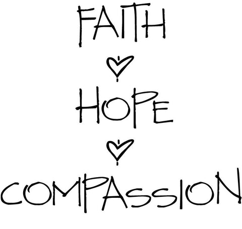 Faith, Hope & Compassion  - Short Sleeve Shirt (Women's Sizes)